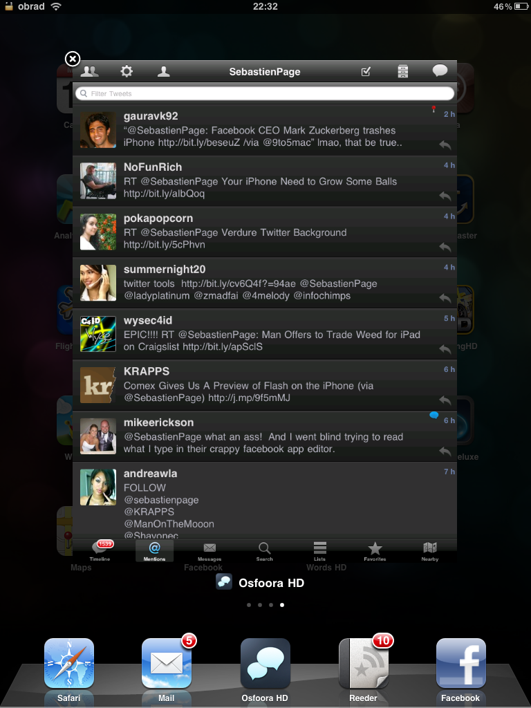 Proswitcher for iPad