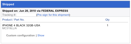 iPhone 4 Shipped from Hong Kong with FedEx