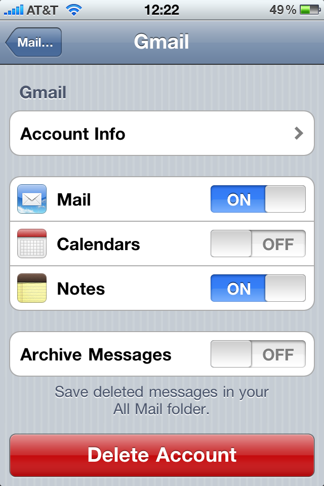 Sync iPhone notes with Gmail