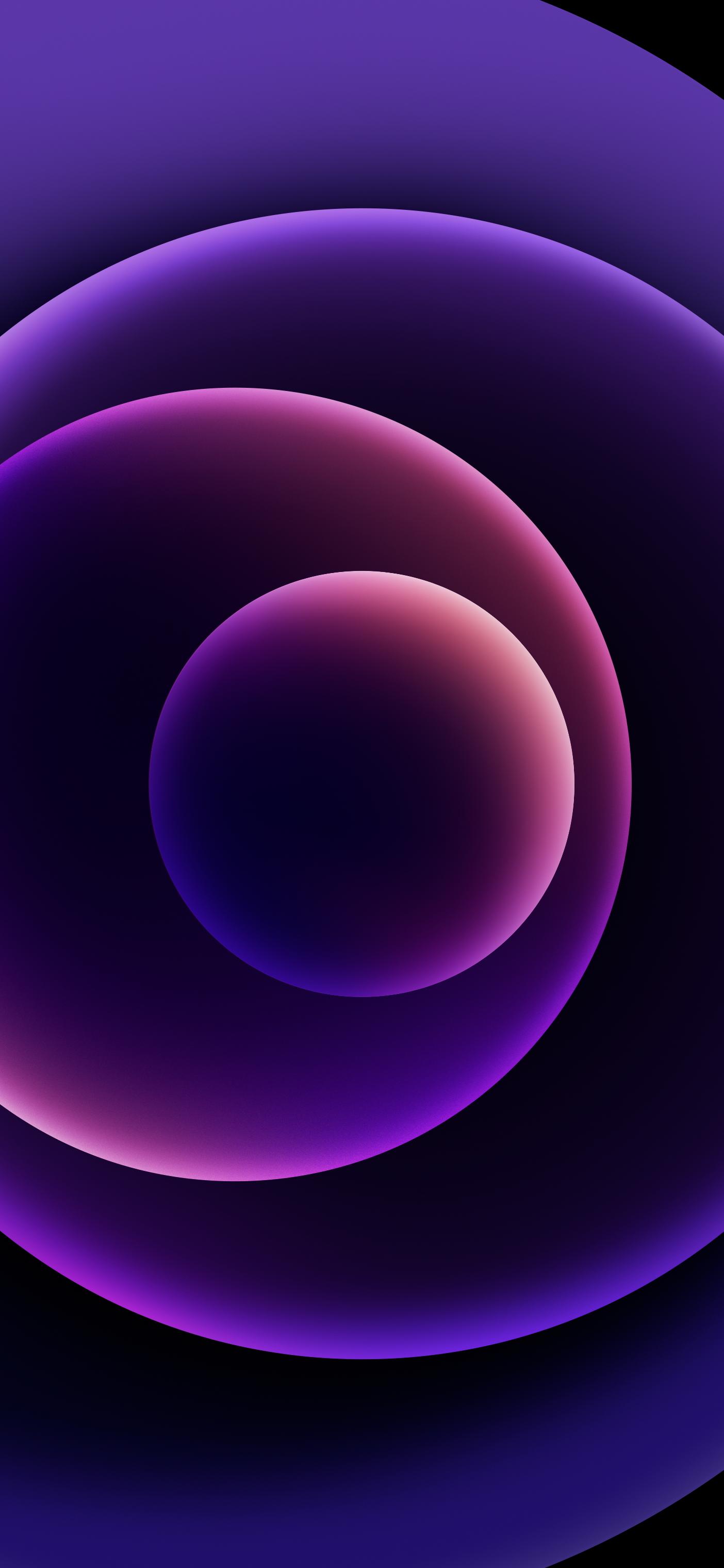 iPhone 12 Purple wallpaper (Dark) @AR72014 idownloadblog